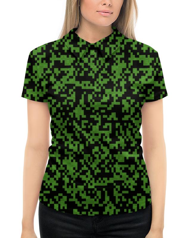Рубашка Поло с полной запечаткой Printio Изумрудный камуфляж жен сорочка арт 19 0076 изумрудный р 44