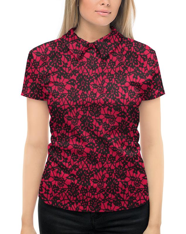 Рубашка Поло с полной запечаткой Printio Красно-черный узор mayoral рубашка поло красно синяя в полоску