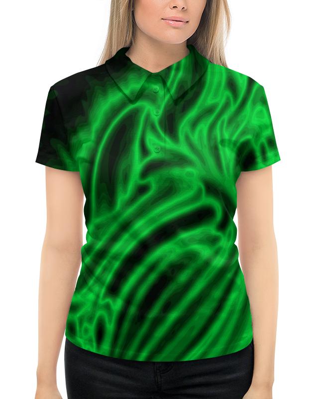 Рубашка Поло с полной запечаткой Printio Яркий зеленый цена 2017