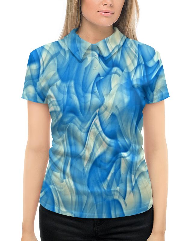 Рубашка Поло с полной запечаткой Printio Бело-голубой узор рубашка laura kent klingel цвет голубой