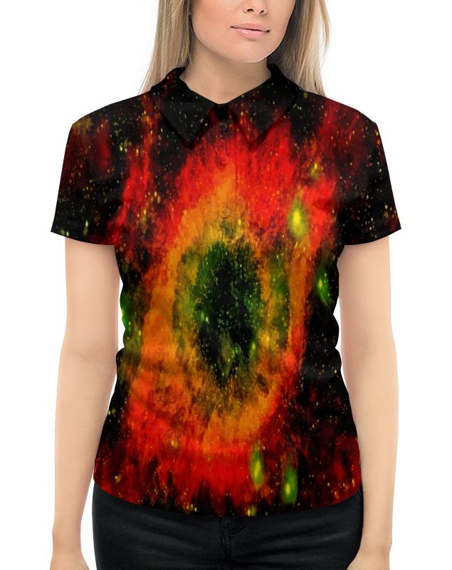 цена на Рубашка Поло с полной запечаткой Printio Вспышки космоса
