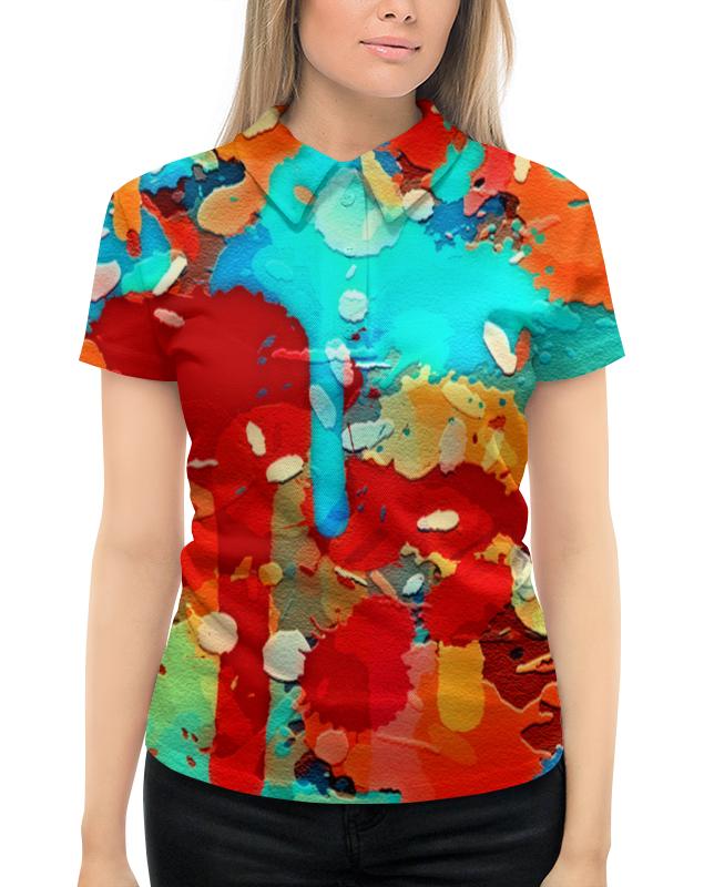Рубашка Поло с полной запечаткой Printio Краски поло print bar линии краски