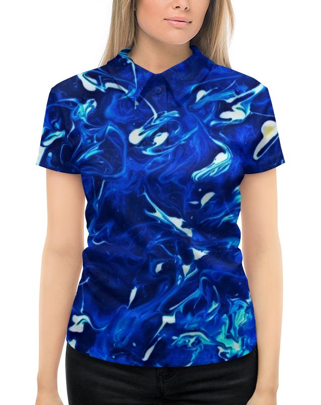 Рубашка Поло с полной запечаткой Printio Жидкие краски поло print bar линии краски