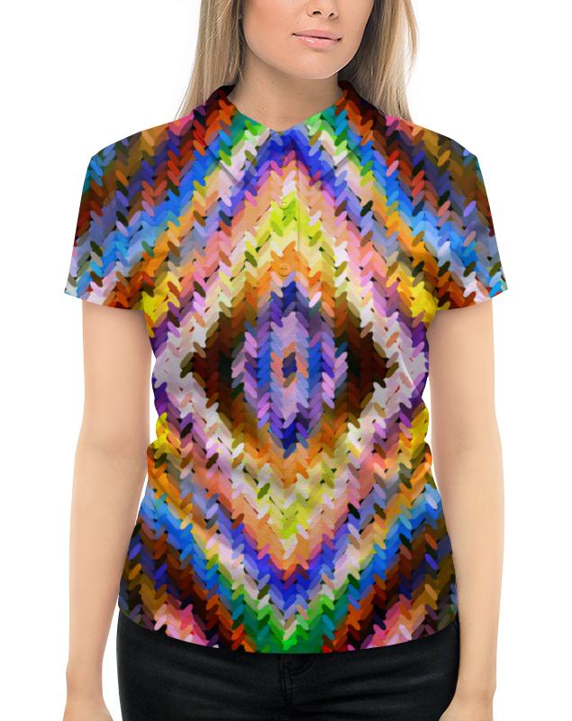 Рубашка Поло с полной запечаткой Printio Ромбы рубашка поло printio фк нефтехимик
