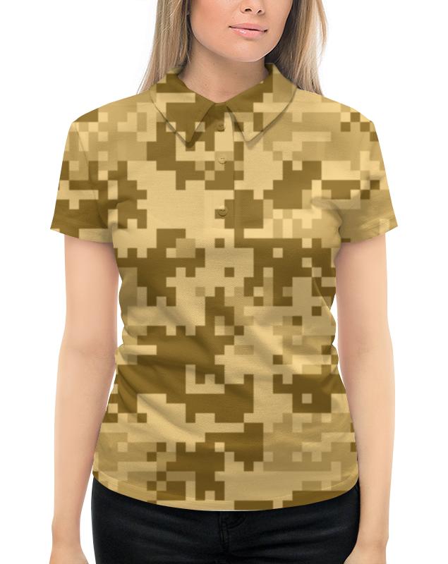 Рубашка Поло с полной запечаткой Printio Камуфляж