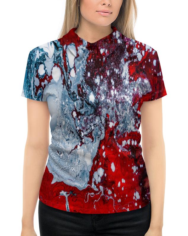 Рубашка Поло с полной запечаткой Printio Красно-белые краски mayoral рубашка поло красно синяя в полоску