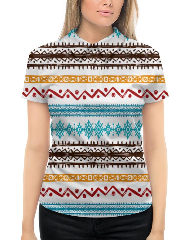Рубашка Поло с полной запечаткой Printio Этнический жен ожерелья с подвесками мода этнический перо цвет радуги синий винный 70cm ожерелье назначение повседневные праздники