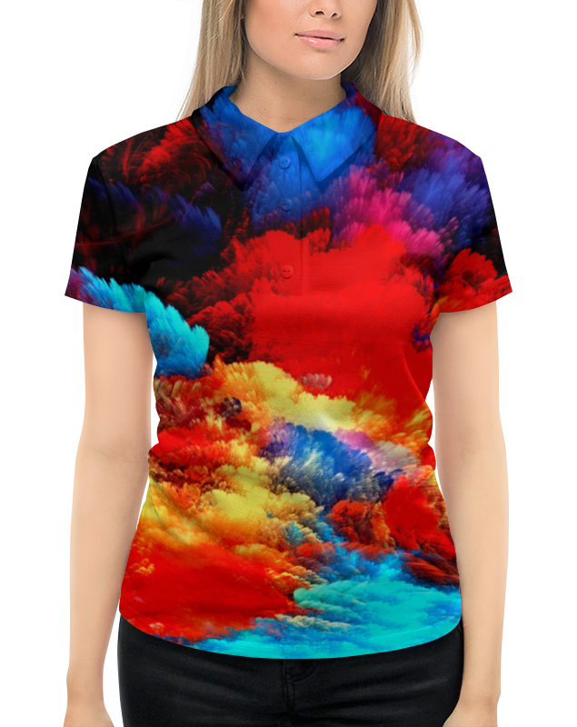 Рубашка Поло с полной запечаткой Printio Салют