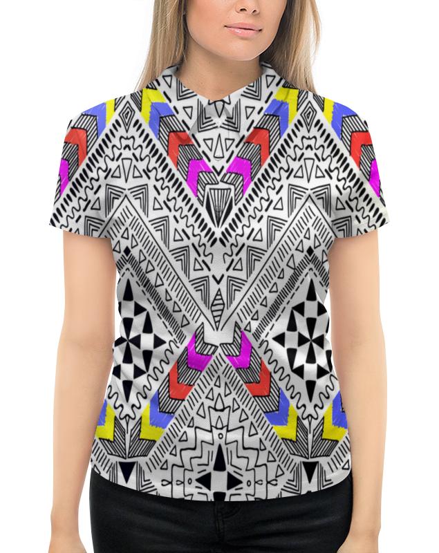 Рубашка Поло с полной запечаткой Printio Узор резной поло print bar узор