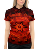 """Рубашка Поло с полной запечаткой """"древние руны"""" - руны, символ, знак, древний"""