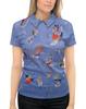 """Рубашка Поло с полной запечаткой """"Синее небо (Василий Кандинский)"""" - картина, живопись, кандинский"""