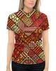 """Рубашка Поло с полной запечаткой """"Этнический узор"""" - узоры, рисунок, этно, этнический"""
