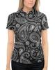 """Рубашка Поло с полной запечаткой """"Пейсли"""" - турецкий огурец, бута, пейсли, персидский кипарис, японский огурец"""