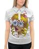 """Рубашка Поло с полной запечаткой """"Без ума от цветов"""" - любовь, девушка, цветы, сердца, блондинка"""