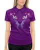 """Рубашка Поло с полной запечаткой """"бабочки цветочки."""" - бабочка, цветы, весна, лето"""