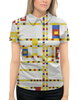 """Рубашка Поло с полной запечаткой """"Бродвей буги-вуги (Питер Мондриан)"""" - картина, живопись, мондриан"""