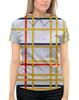 """Рубашка Поло с полной запечаткой """"Нью-Йорк 1 (Питер Мондриан)"""" - картина, живопись, мондриан"""