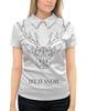 """Рубашка Поло с полной запечаткой """"Dear Deer"""" - рисунок, дизайн, олень, минимализм, рога"""