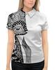 """Рубашка Поло с полной запечаткой """"Animals"""" - животные, графика, иллюстрация, лиса, стилизованнаялиса"""