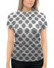 """Рубашка Поло с полной запечаткой """"Женская модель, корректирующая фигуру"""" - цветы, грудь, женщина, иллюзия, мехенди"""