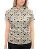 """Рубашка Поло с полной запечаткой """"Акулы"""" - море, якорь, водоросли, акула, морская звезда"""
