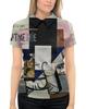 """Рубашка Поло с полной запечаткой """"Композиция с Джокондой (Казимир Малевич)"""" - картина, живопись, мона лиза, малевич"""