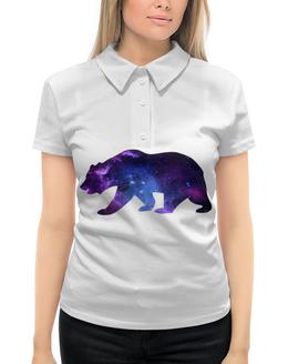 """Рубашка Поло с полной запечаткой """"Space animals"""" - space, bear, медведь, космос, астрономия"""