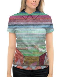 """Рубашка Поло с полной запечаткой """"Вид на плодородную страну (картина Клее)"""" - картина, живопись, авангард, клее"""