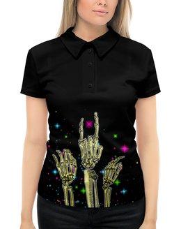 "Рубашка Поло с полной запечаткой ""Хэллоуин"" - хэллоуин, скелет"