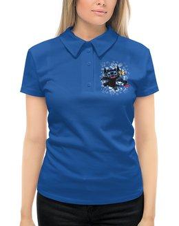 """Рубашка Поло с полной запечаткой """"Lilo & Stich (Stich)"""" - инопланетянин, пришелец, лило и стич, стич, дисней"""