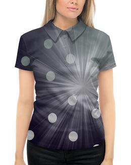 """Рубашка Поло с полной запечаткой """"Лунный Свет..."""" - ночь, синий, луна, свет, сияние"""