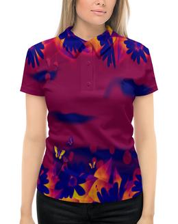 """Рубашка Поло с полной запечаткой """"Бабочки"""" - бабочки, цветы, весна, природа, пейзаж"""