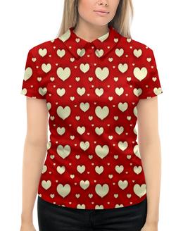 """Рубашка Поло с полной запечаткой """"Сердце"""" - любовь, сердца, день святого валентина, сердечки, я люблю"""