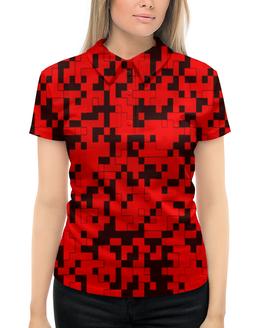 """Рубашка Поло с полной запечаткой """"красный камуфляж"""" - форма, камуфляж, военные, защитник, маскировка"""