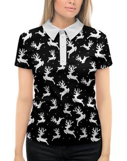 """Рубашка Поло с полной запечаткой """"Олени"""" - новый год, 2018, рождество, олень"""