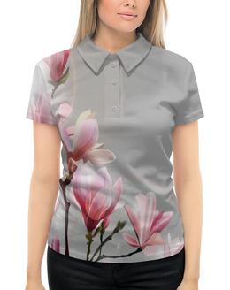 """Рубашка Поло с полной запечаткой """"Spring"""" - цветы, весна, spring, пора года"""