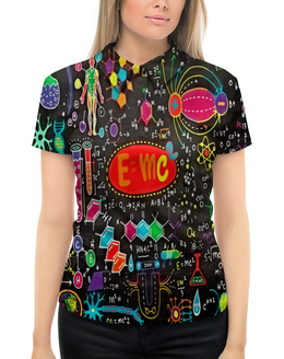 """Рубашка Поло с полной запечаткой """"Химия"""" - знаки, символы, буквы, химия, формулы"""