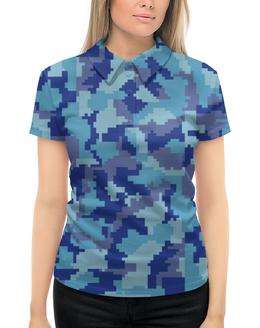 """Рубашка Поло с полной запечаткой """"форма"""" - камуфляж, маскировка, защитник, военные, форма"""