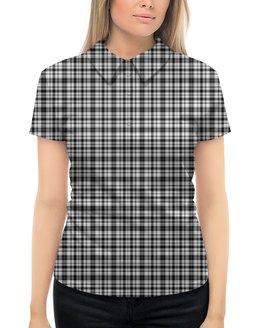 """Рубашка Поло с полной запечаткой """"клетка №4"""" - спорт, абстракция"""