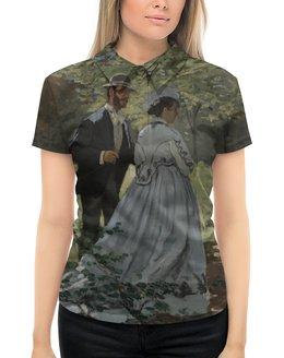 """Рубашка Поло с полной запечаткой """"Базиль и Камилла (картина Клода Моне)"""" - любовь, картина, импрессионизм, живопись, моне"""