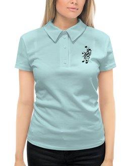 """Рубашка Поло с полной запечаткой """"МУЗЫКАЛЬНАЯ"""" - стиль, красота, яркость, скрипичный ключ, нотные знаки"""