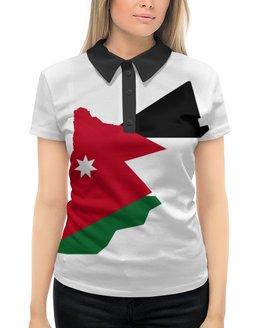 """Рубашка Поло с полной запечаткой """"Иордания"""" - ближний восток, арабы, корона, карта, иордания"""