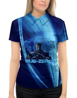 "Рубашка Поло с полной запечаткой ""Sub-Zero"" - ninja, mortal, kombat, zero, sub"