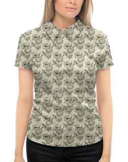 """Рубашка Поло с полной запечаткой """"Нежные цветы"""" - лето, цветы, природа"""