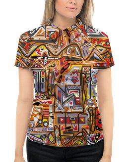 """Рубашка Поло с полной запечаткой """"Оранжевый дом."""" - арт, узор, абстракция, фигуры, текстура"""