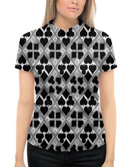 """Рубашка Поло с полной запечаткой """"Масти карт"""" - карты, фигуры, игры, символы, масти"""