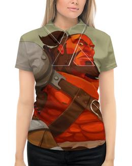 """Рубашка Поло с полной запечаткой """"Axe-топор"""" - киберспорт, axe-топор, компьтерная игра dota 2, дота 2"""