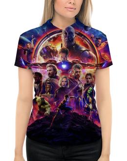 """Рубашка Поло с полной запечаткой """"Мстители"""" - мстители, avengers, марвел, marvel, война бесконечности"""