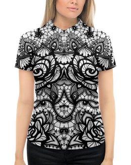 """Рубашка Поло с полной запечаткой """"УЗОРНАЯ"""" - арт, абстракция, цветочный узор, стиль эксклюзив креатив красота яркость, макраме"""