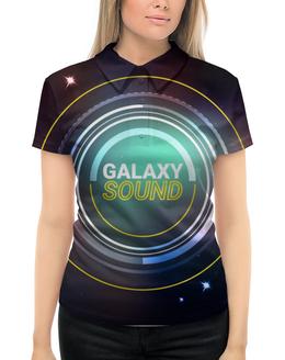 """Рубашка Поло с полной запечаткой """"Galaxy sound"""" - дизайн, космос, иллюстрация, sound, креатив"""